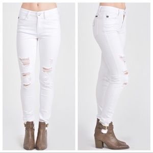 Last 1! 🌟White Distressed Skinny Jeans